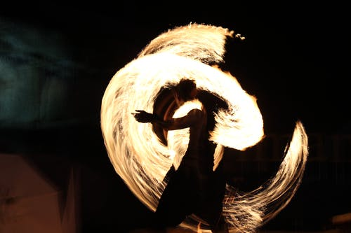 Free stock photo of dancer, fire, holiday, movement