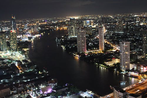 Free stock photo of Bangkok, Chao Phraya River, city, city lights