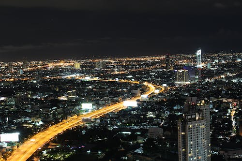 Free stock photo of Bangkok, blurred lines, city lights, Lebua