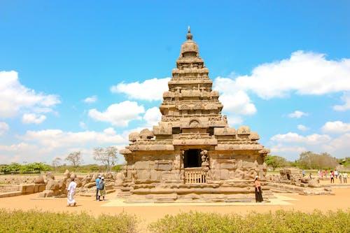 People Touring the Monuments of Mahabalipuram