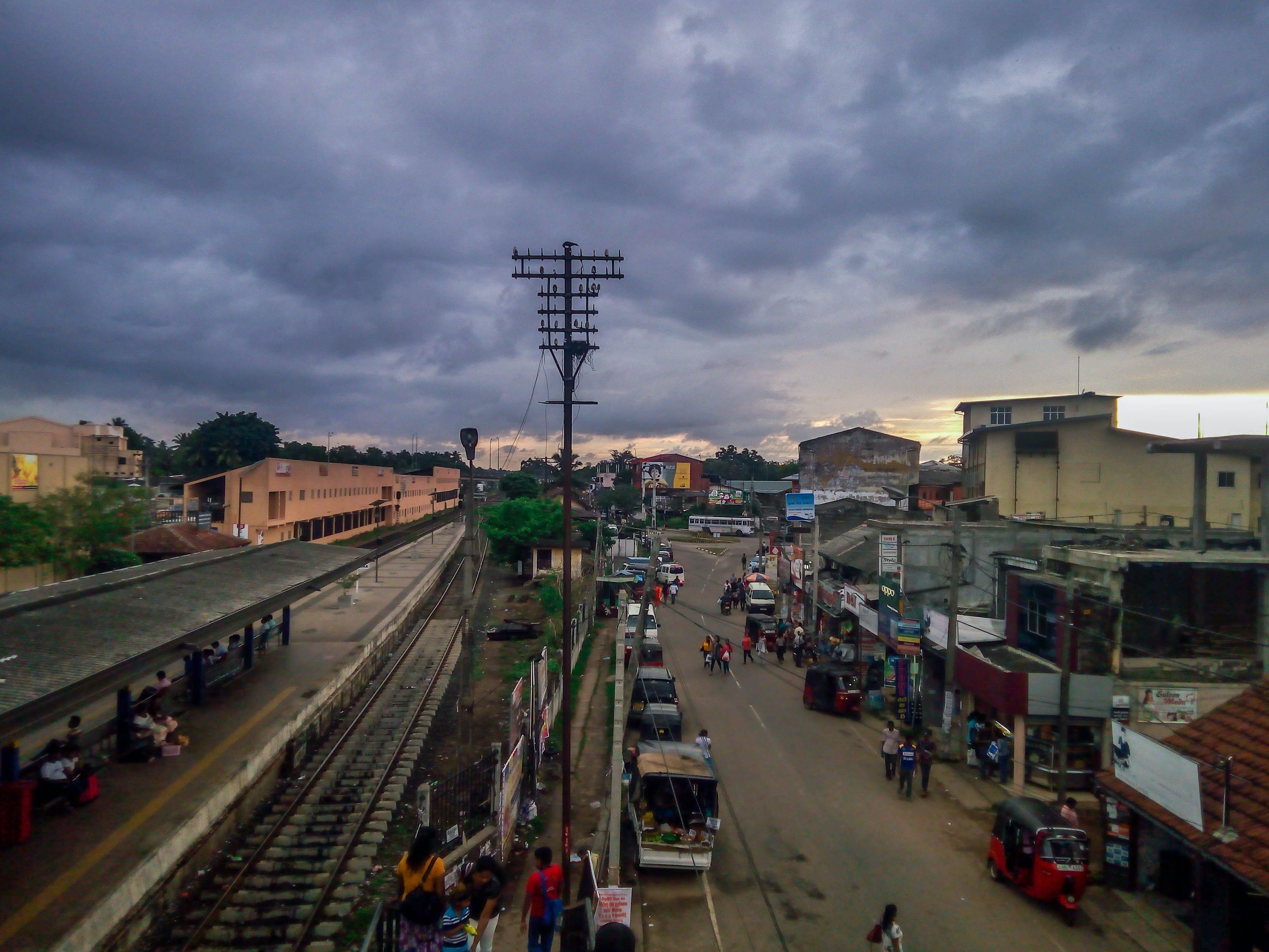 busy city, evening, gampaha