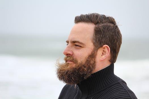 gray scale bearded man free stock photo