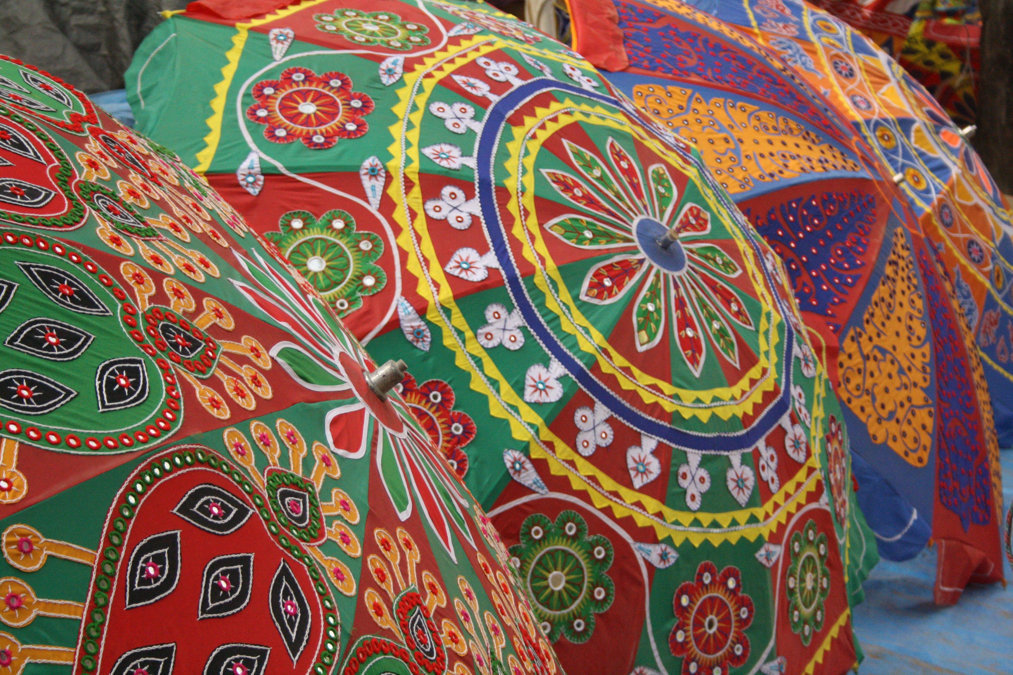 Free stock photo of art, color, handicraft, umbrella