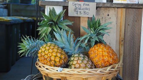 水果店, 鳳梨 的 免费素材图片
