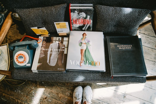 Photography of Magazines at the Couch