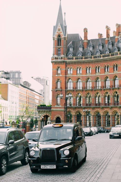 arkitektur, biler, by
