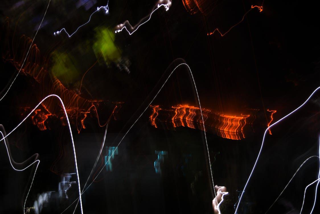 Free stock photo of light trail