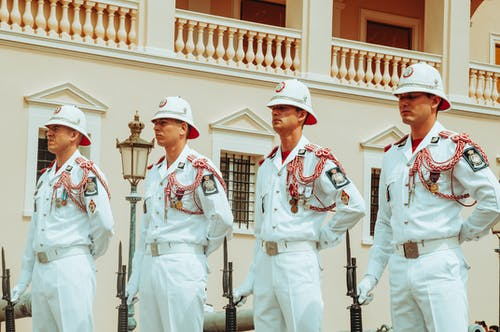 The Military Personnel of Monaco Holding Bayonets