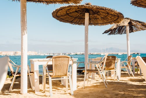 Free stock photo of bar cafe, beach, beach cafe
