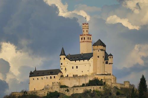 城堡, 戲劇性的天空, 歷史的 的 免费素材图片