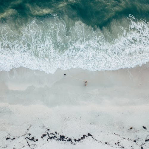 Безкоштовне стокове фото на тему «аерознімок, безтурботний, берег моря, вода»