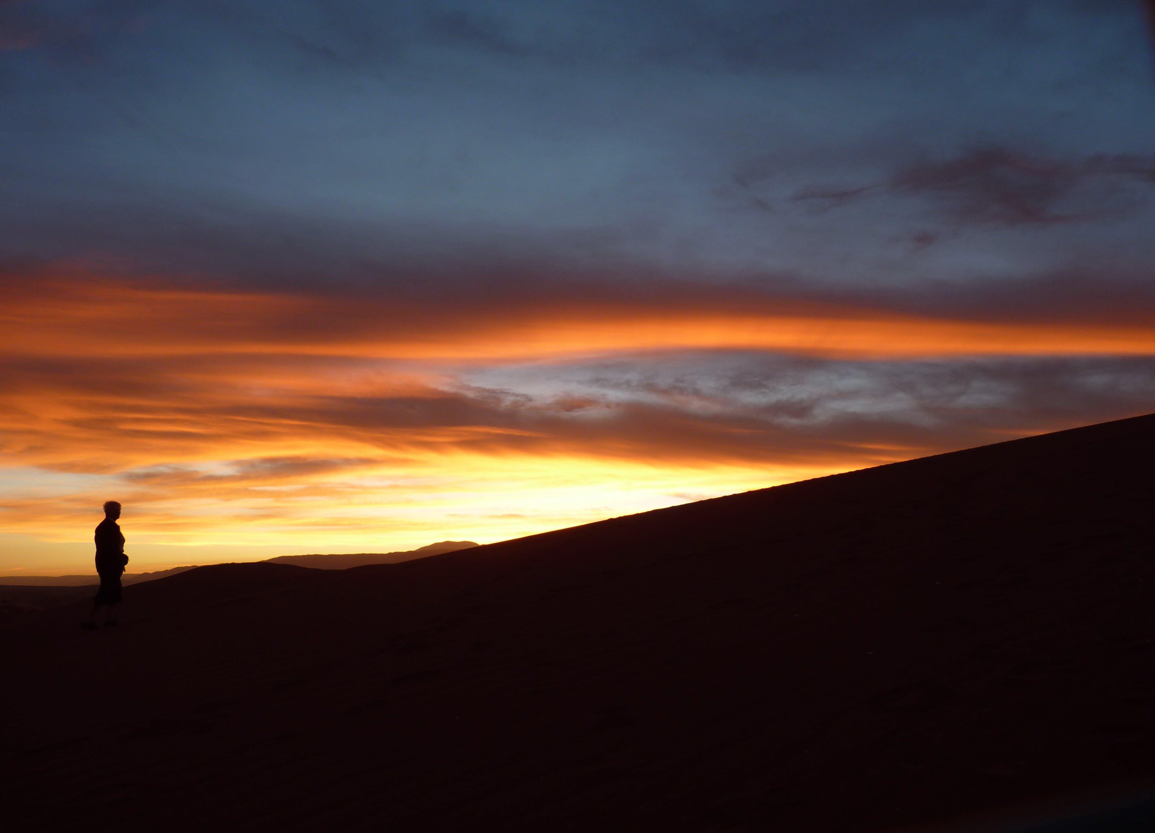 himmel, landskab, malerisk