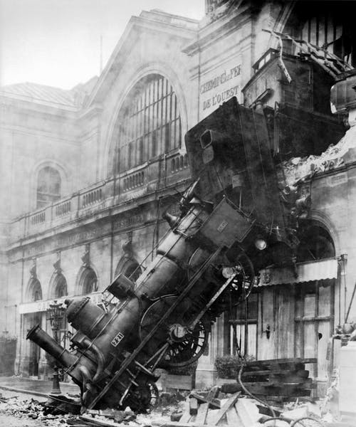 Photos gratuites de 1895, accident, accident ferroviaire, catastrophe