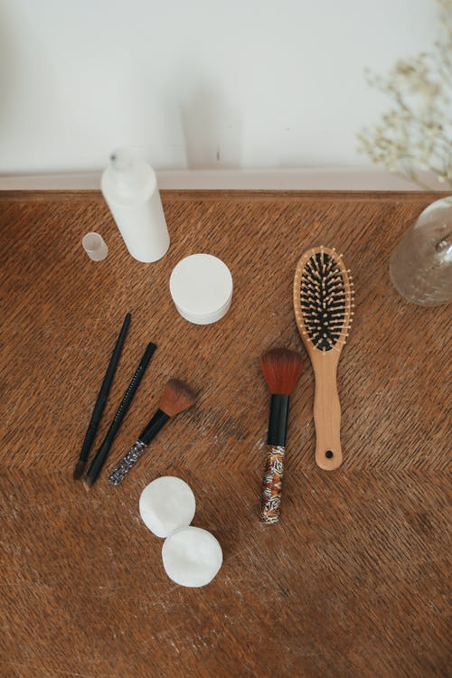 Brown Wooden Handled Hair Brush