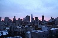 city, sunset, skyline