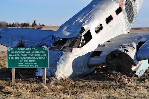 Free stock photo of abandoned, accident, aeroplanes