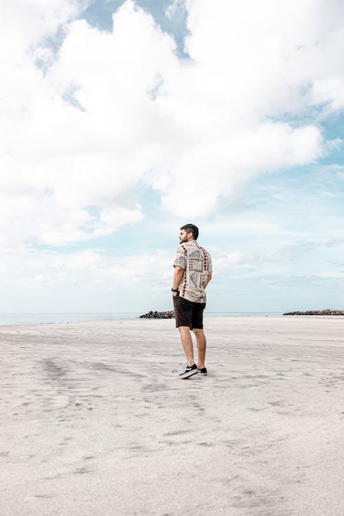 A Man Alone in the Beach