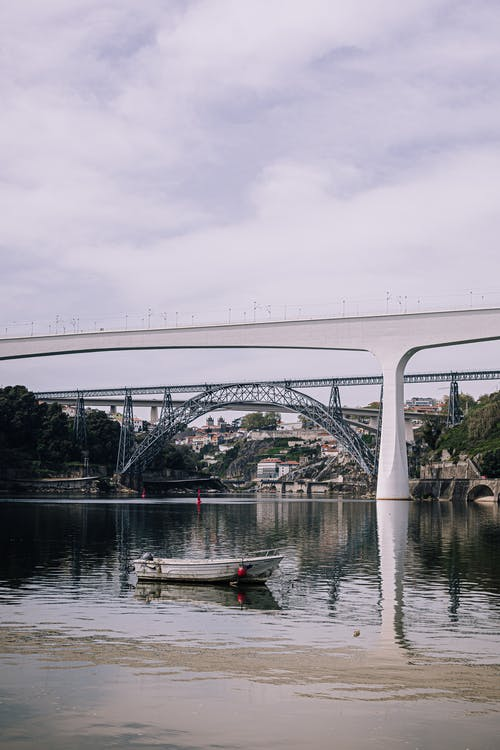 A View of the Bridges Over the Douro River in Portugal