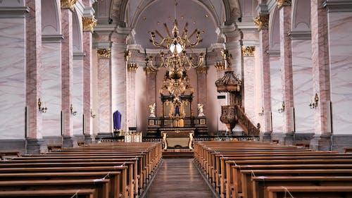 An Empty Church Interior