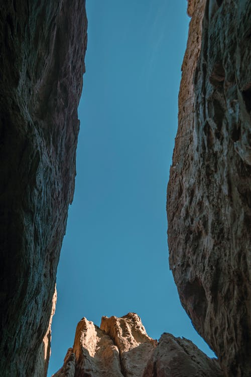 A View from Inside a Crevice
