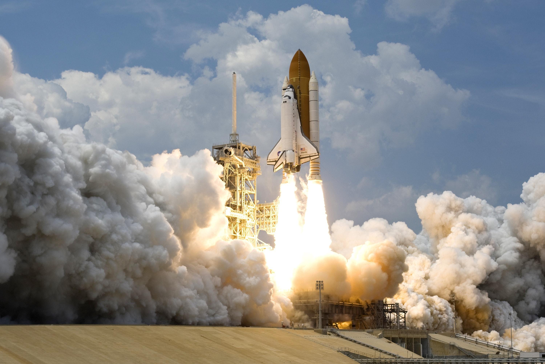 Space Rocket Launching Free Stock Photo