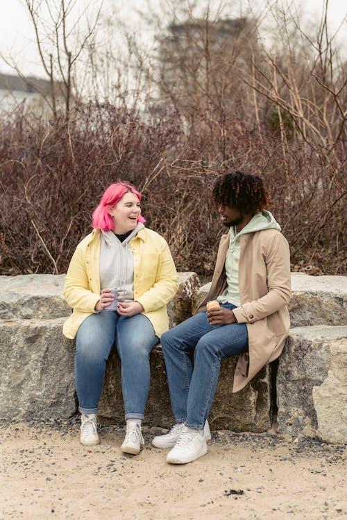 アフリカ系アメリカ人, うれしい, お互いを見ての無料の写真素材
