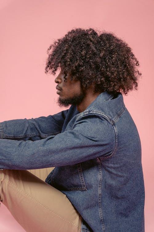 Kostenloses Stock Foto zu afro, afroamerikanischer mann, bart