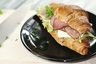food, plate, sandwich