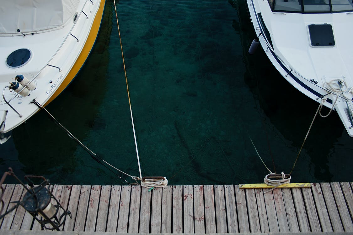 Aerial Photography Of White Yachts