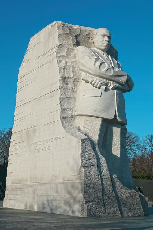 Photos gratuites de martin luther king, monument de washington, washington dc