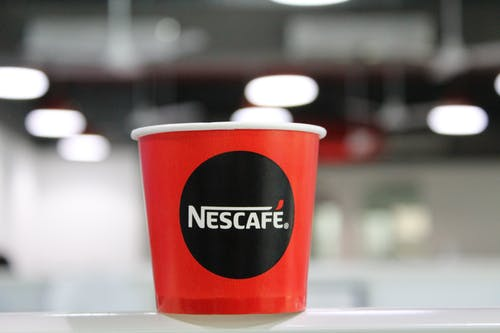 Red And Black Nescafe Coffee Cup