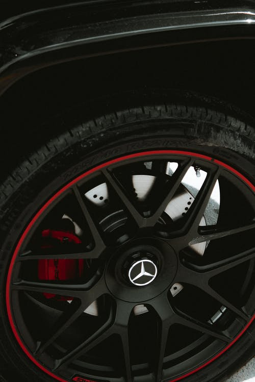 Black and Red Multi Spoke Wheel
