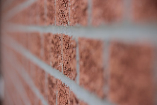 Brown Brick Wall Close Up