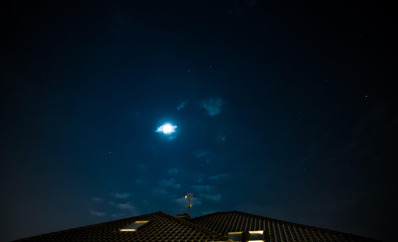 Free stock photo of nature, sky, night, roof