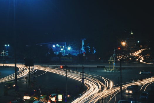 Time Lapse Photography of Road and Vehicls