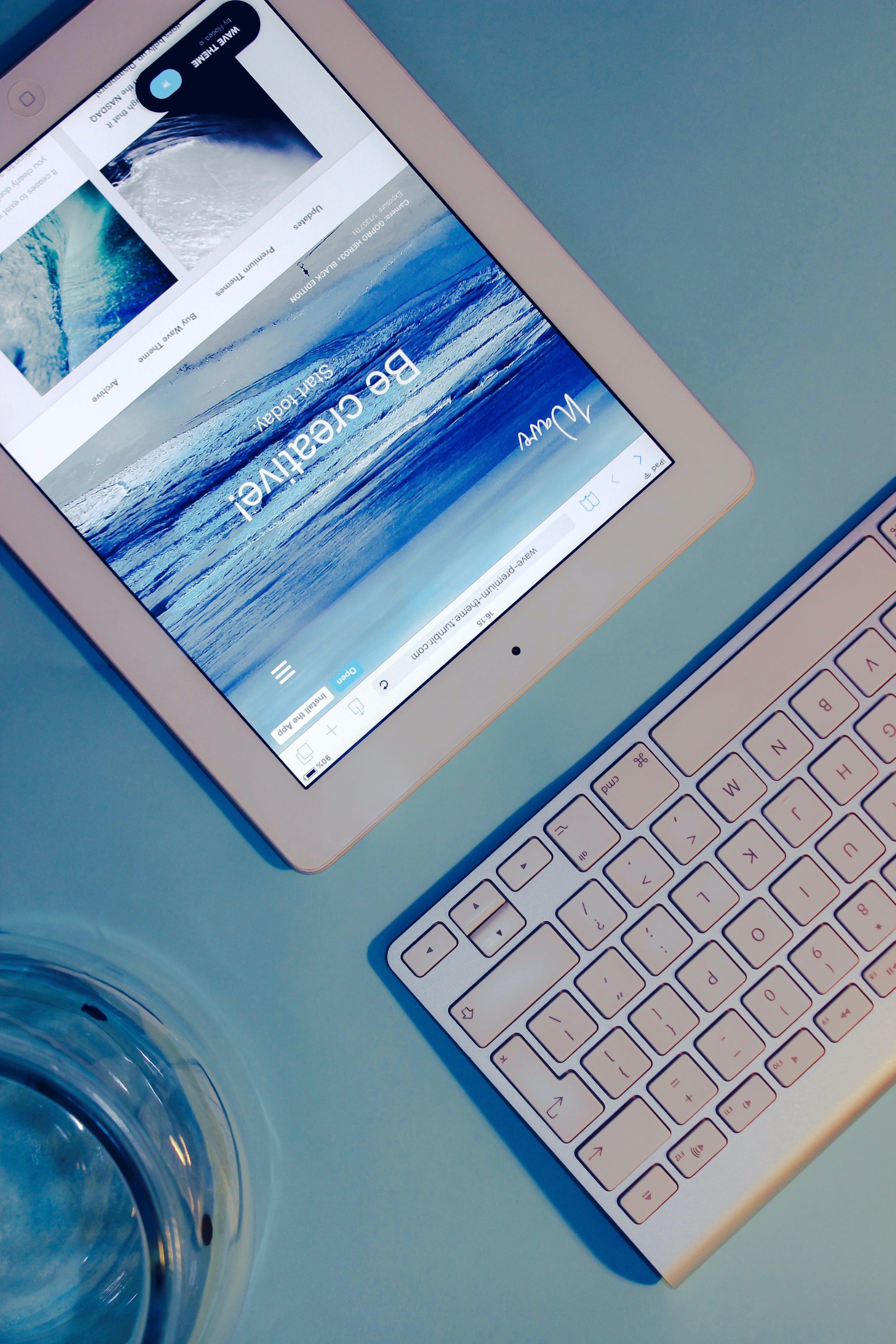 Free stock photo of apple, desk, ipad, web