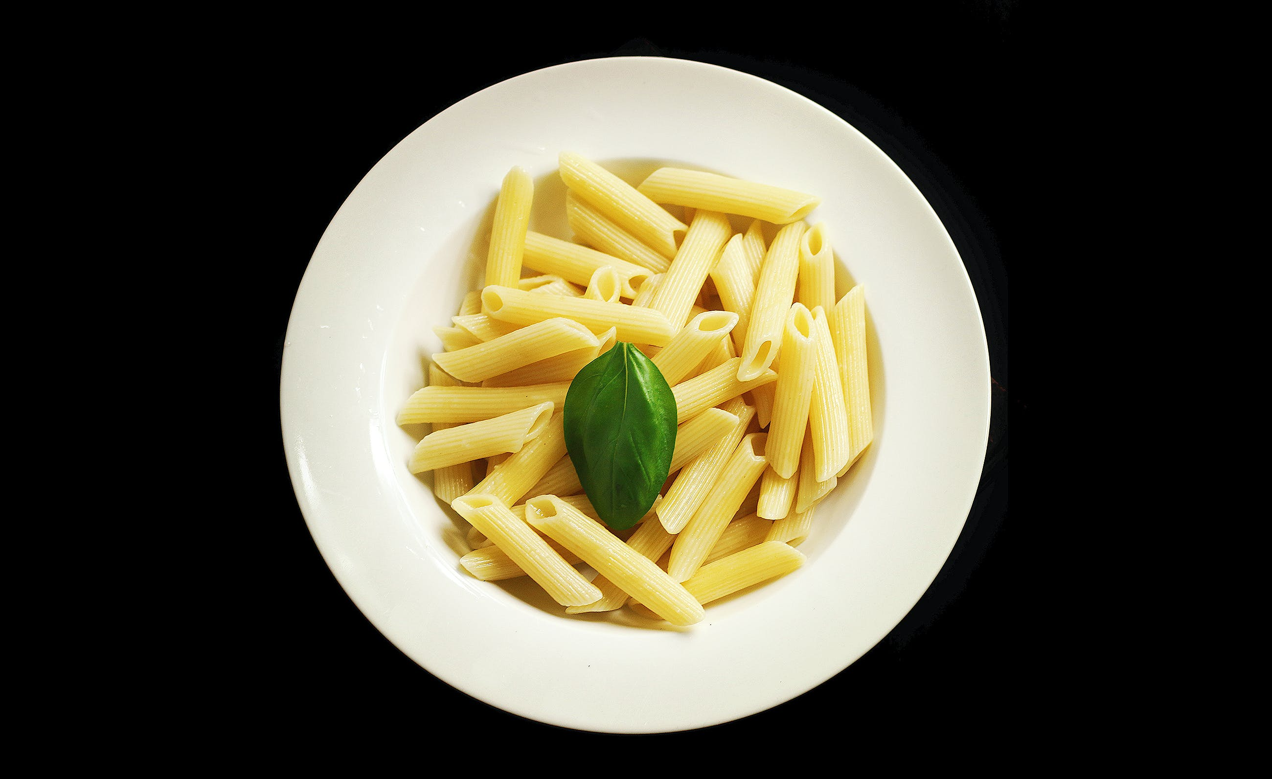 White Ceramic Plate With Pasta