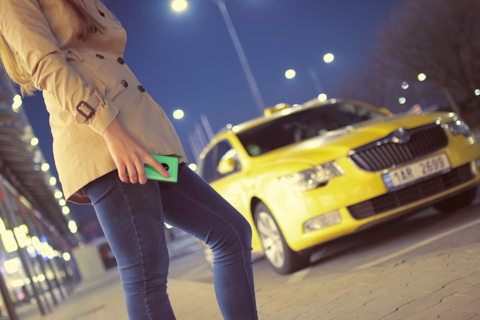 airport, cab, car