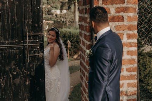 Free stock photo of adult, bride, door