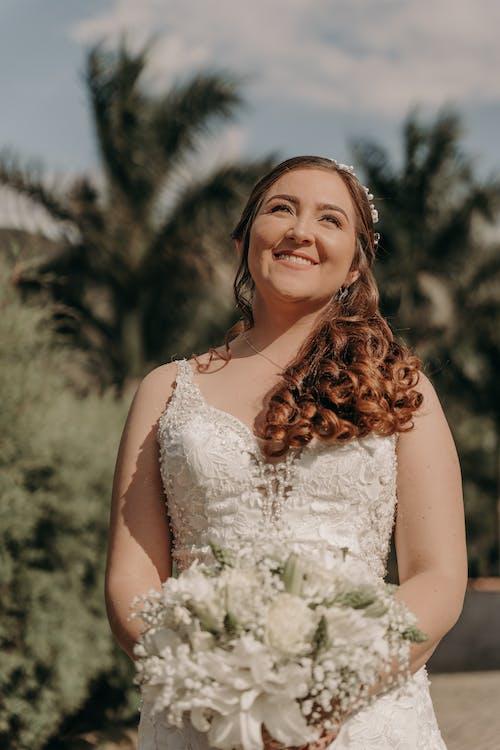 Free stock photo of bride, cute, dress