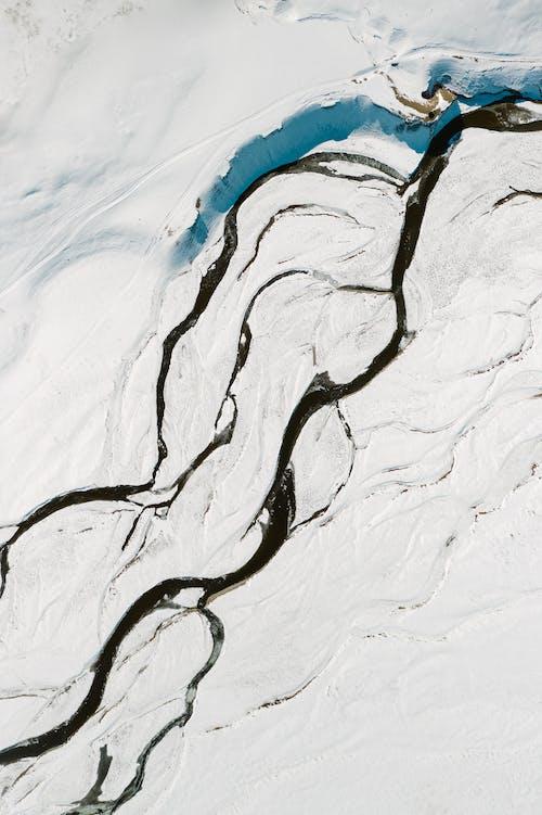 Imagine de stoc gratuită din acoperit de zăpadă, afluent, alb