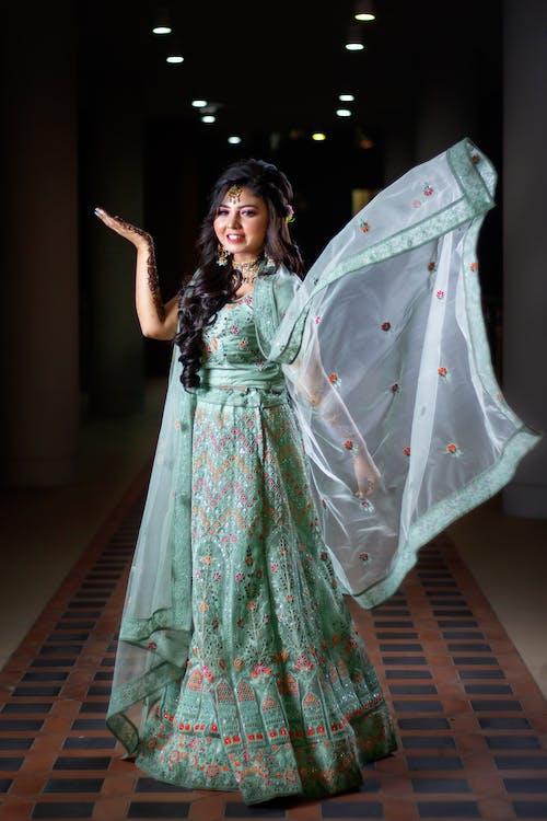A Woman in an Elegant Dress