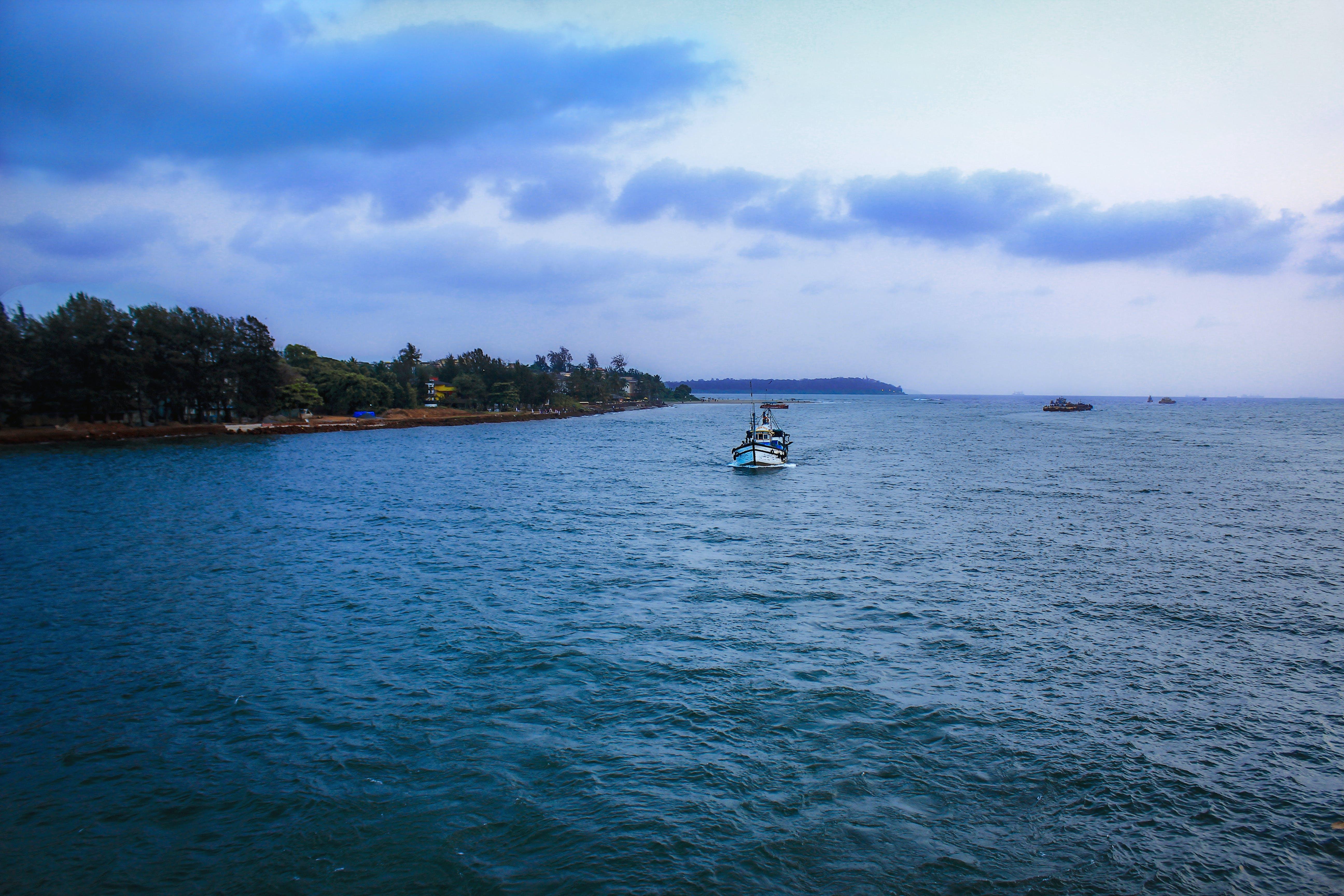 beach, blue water, cloud