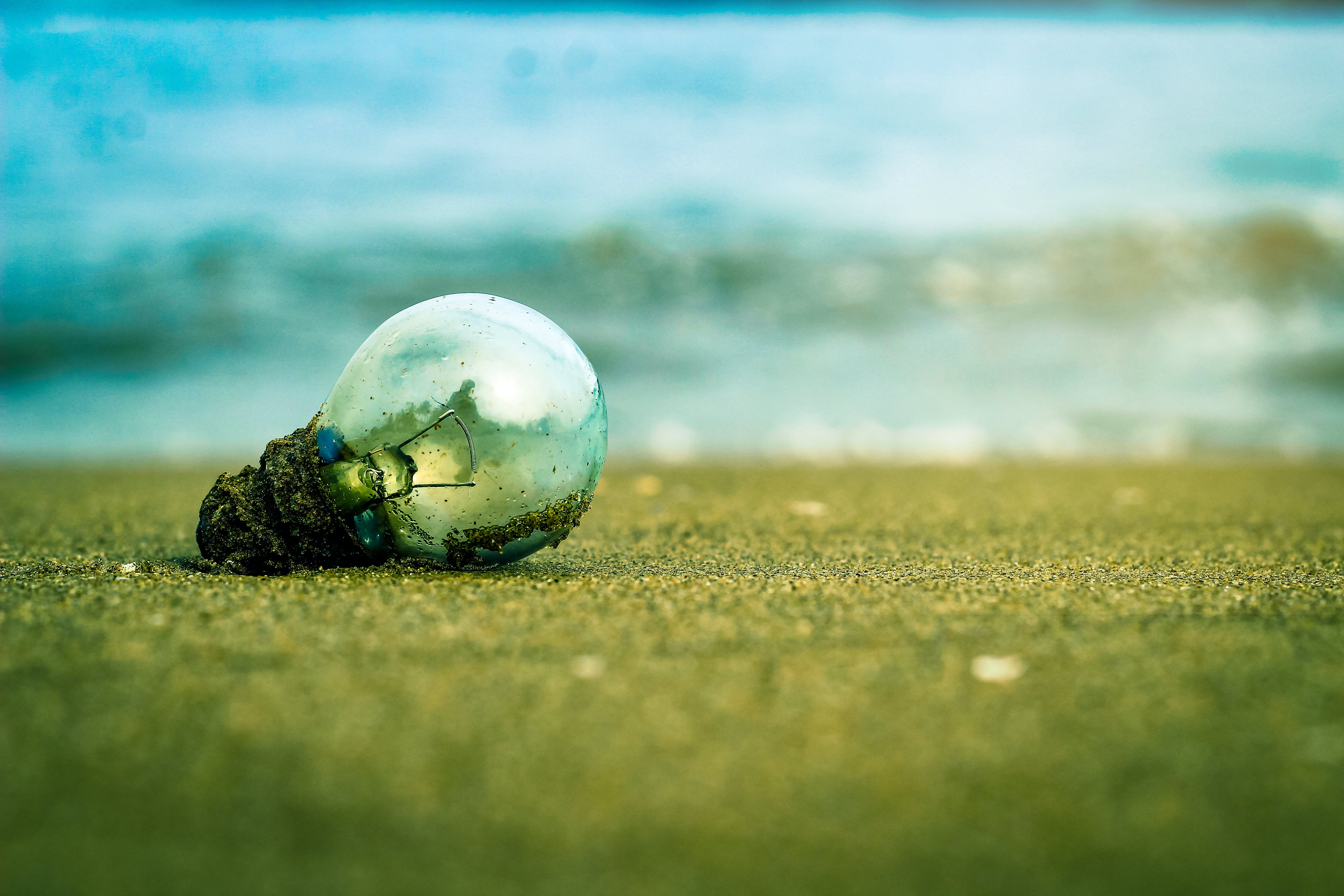 Free stock photo of beach, blue water, bulb, cloud