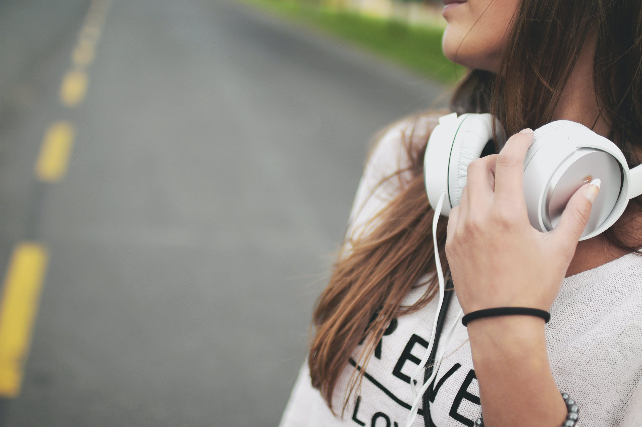 cool, earphones, girl