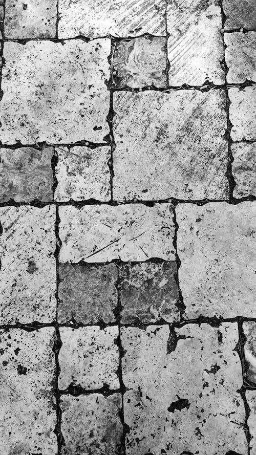 Gray and Black Brick Wall