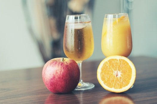 Free stock photo of healthy, apple, drink, orange