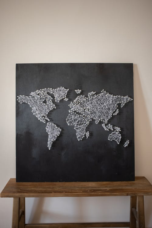 A String Art of the World Map