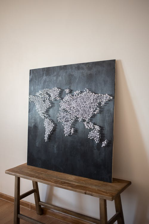 Chalkboard on a Wooden Bench