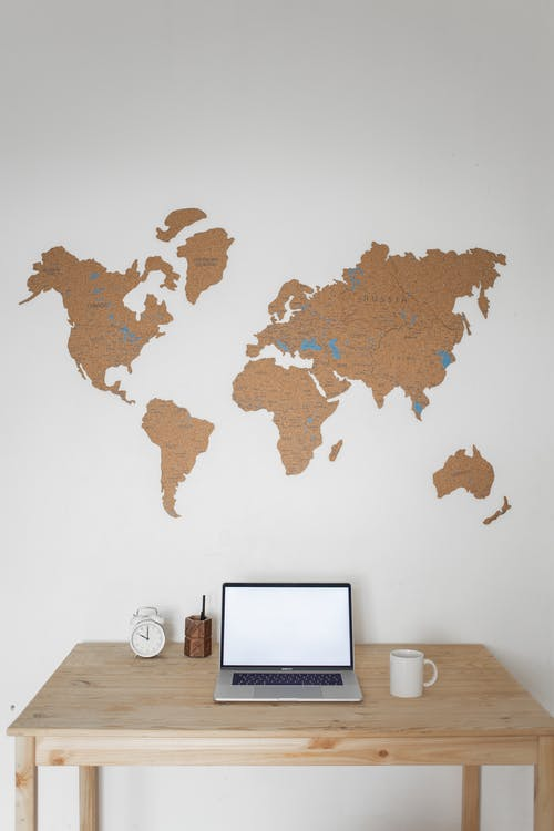 A World Map on the Wall
